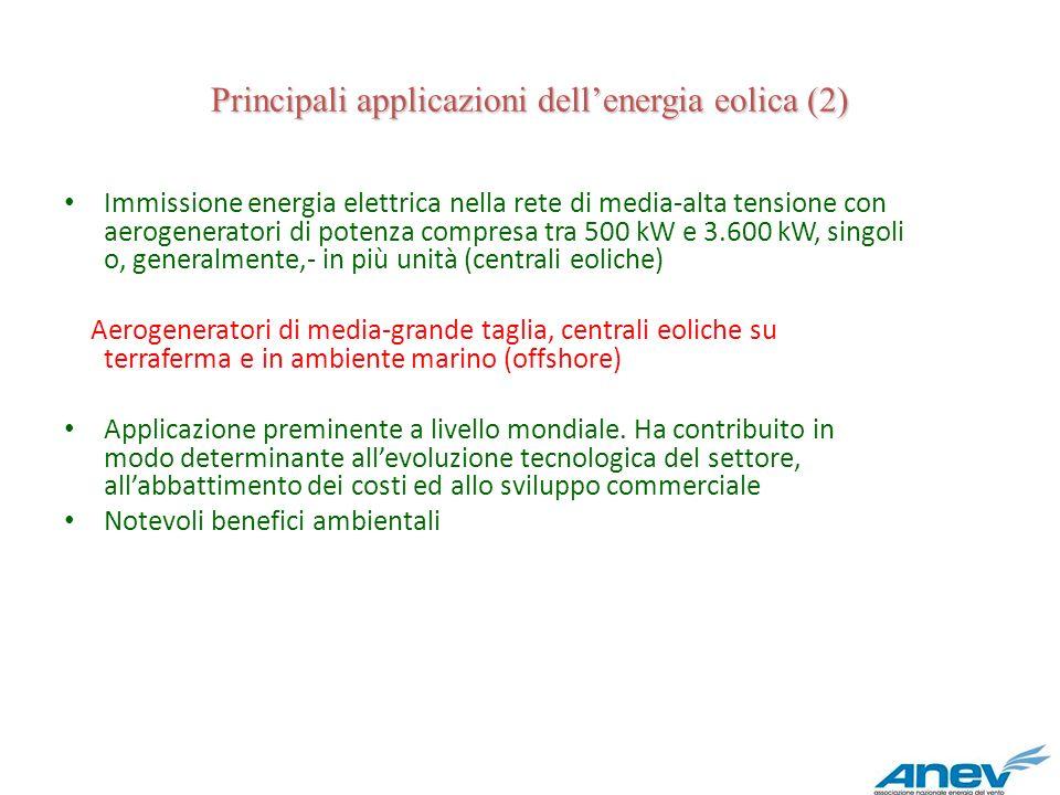 Principali applicazioni dell'energia eolica (2)