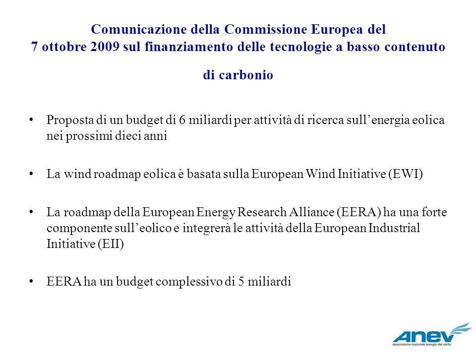 Comunicazione della Commissione Europea del 7 ottobre 2009 sul finanziamento delle tecnologie a basso contenuto di carbonio