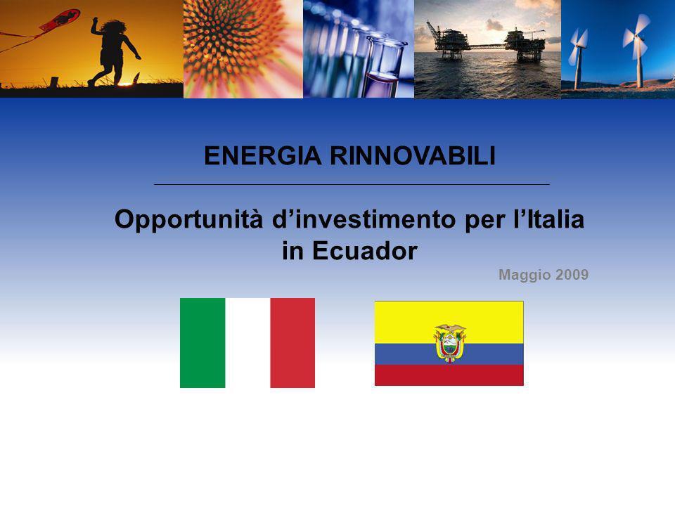 Opportunità d'investimento per l'Italia in Ecuador