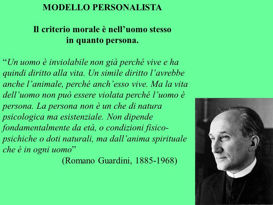 Il criterio morale è nell'uomo stesso