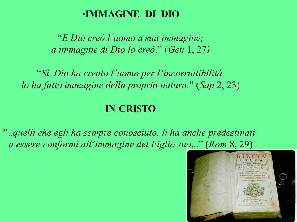 IMMAGINE DI DIO IN CRISTO