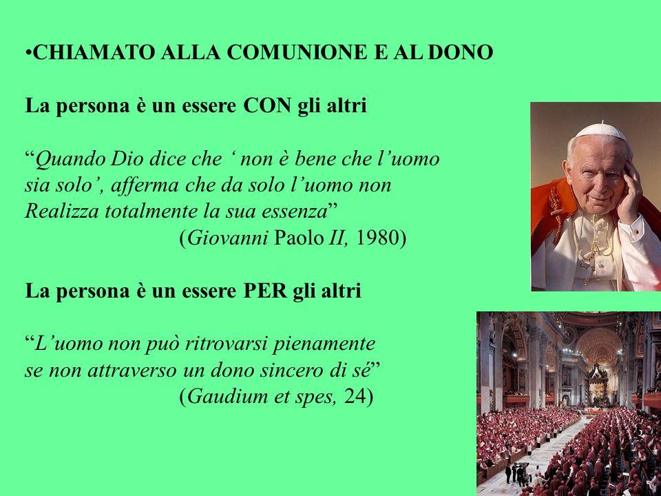 CHIAMATO ALLA COMUNIONE E AL DONO