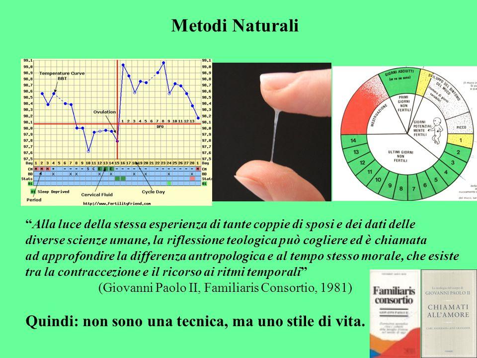 Metodi Naturali Quindi: non sono una tecnica, ma uno stile di vita.