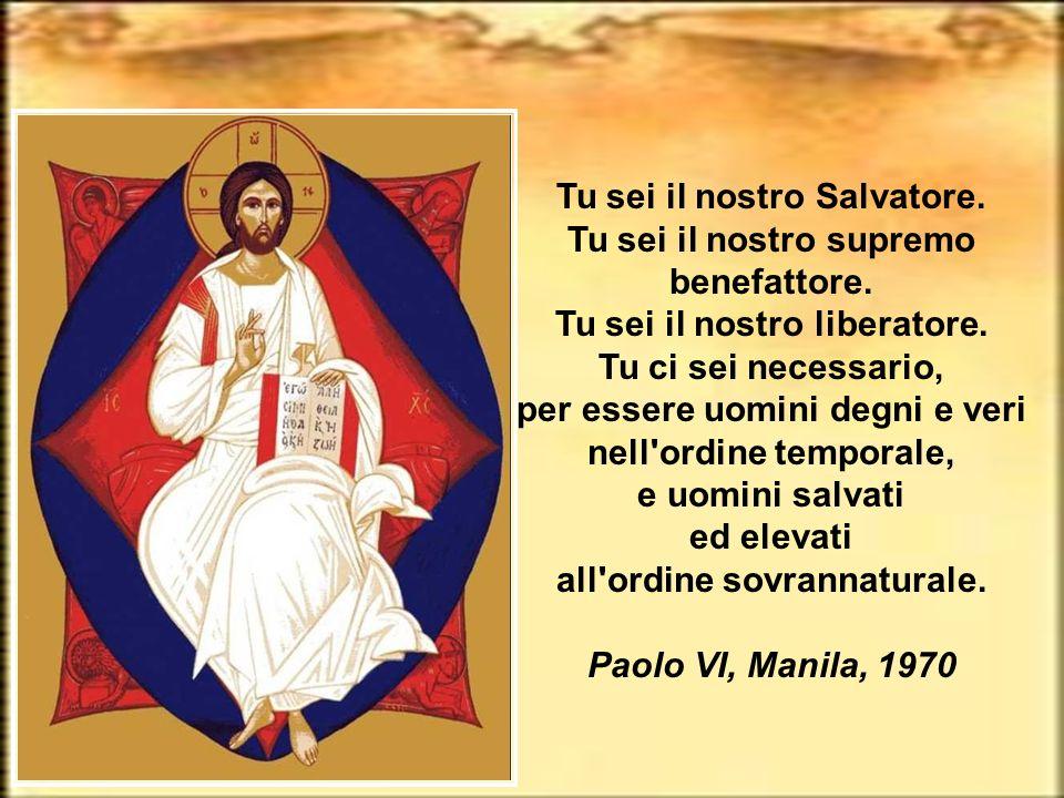 Tu sei il nostro Salvatore. Tu sei il nostro supremo benefattore.