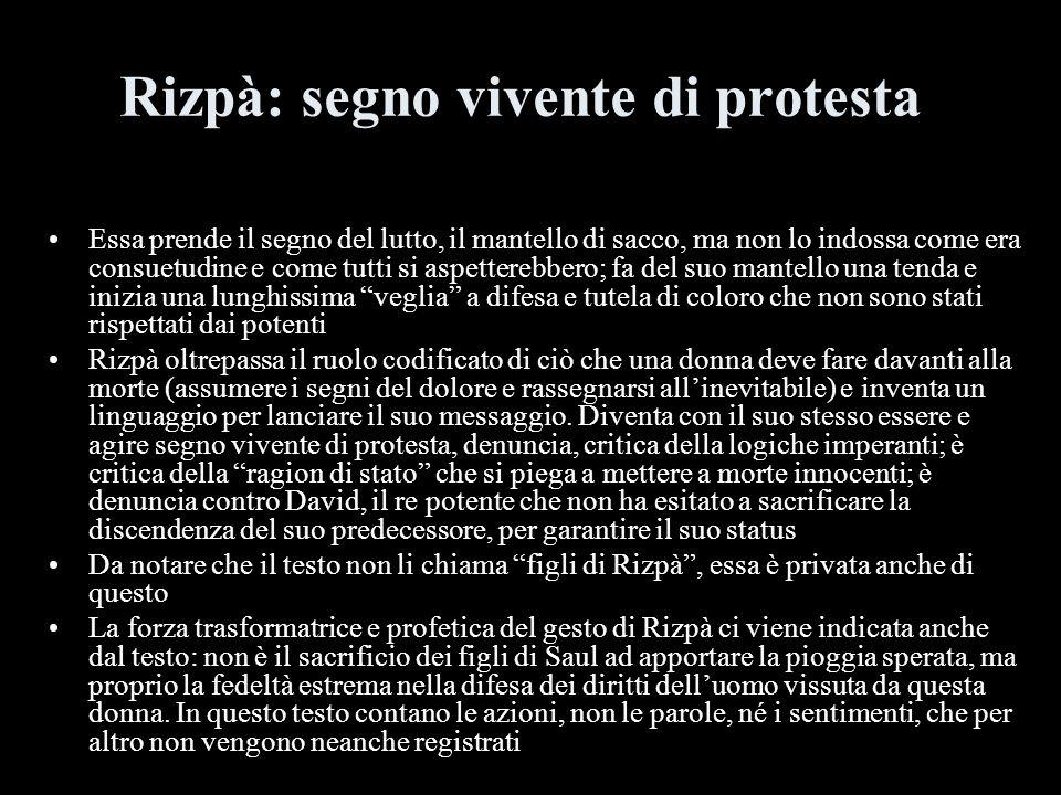 Rizpà: segno vivente di protesta