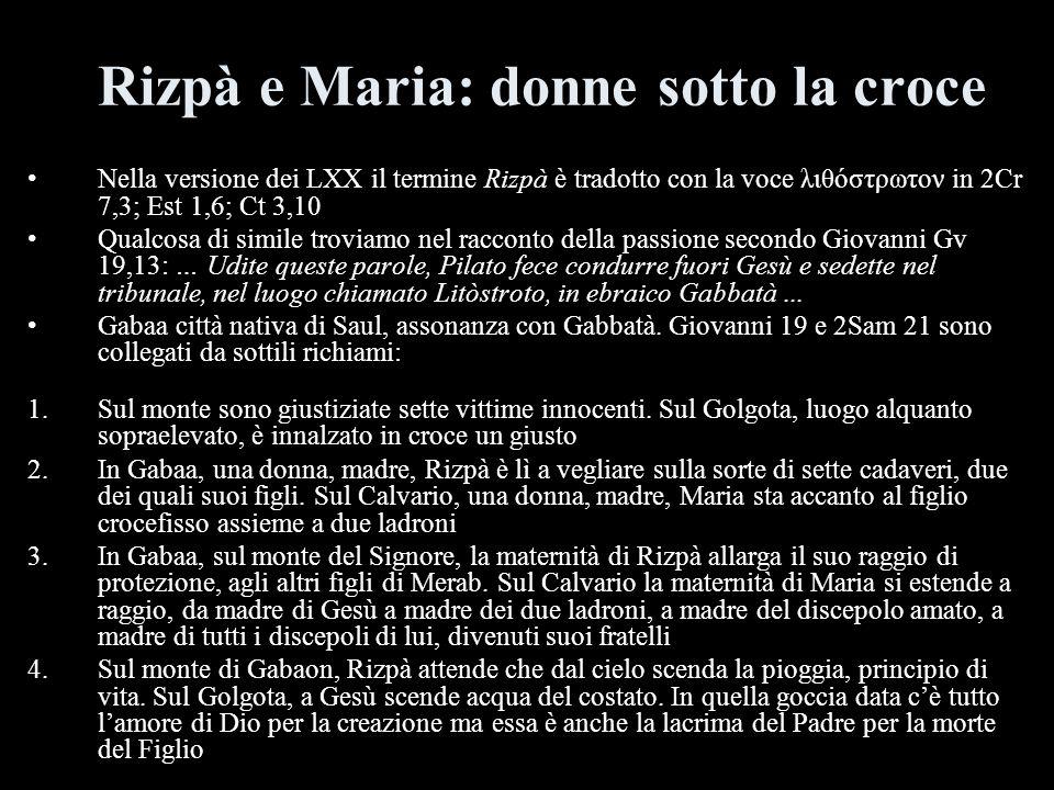 Rizpà e Maria: donne sotto la croce