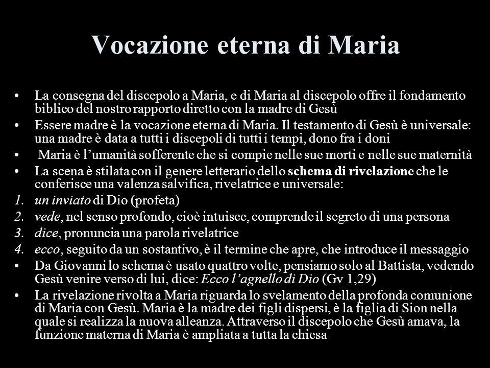 Vocazione eterna di Maria