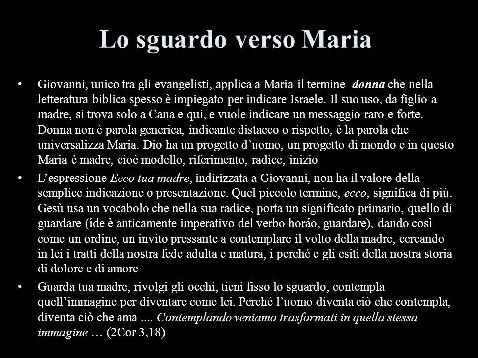 Lo sguardo verso Maria
