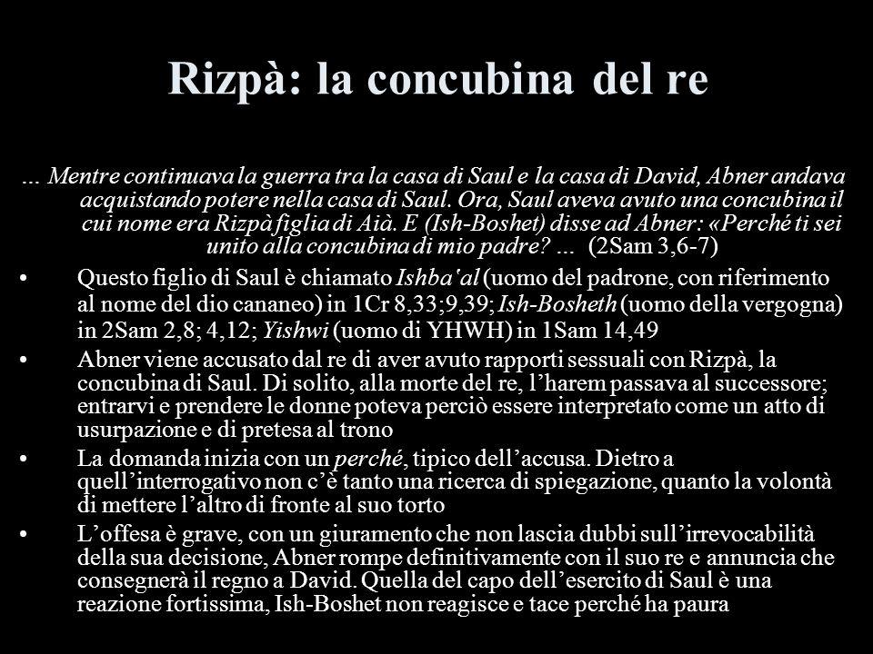 Rizpà: la concubina del re