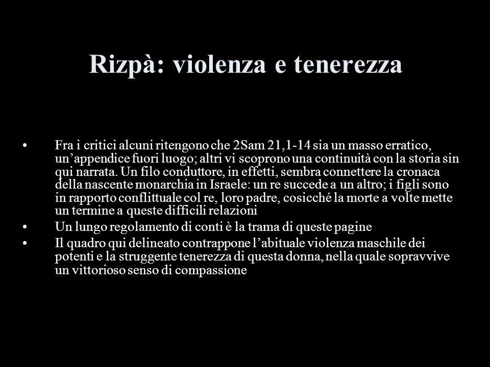 Rizpà: violenza e tenerezza