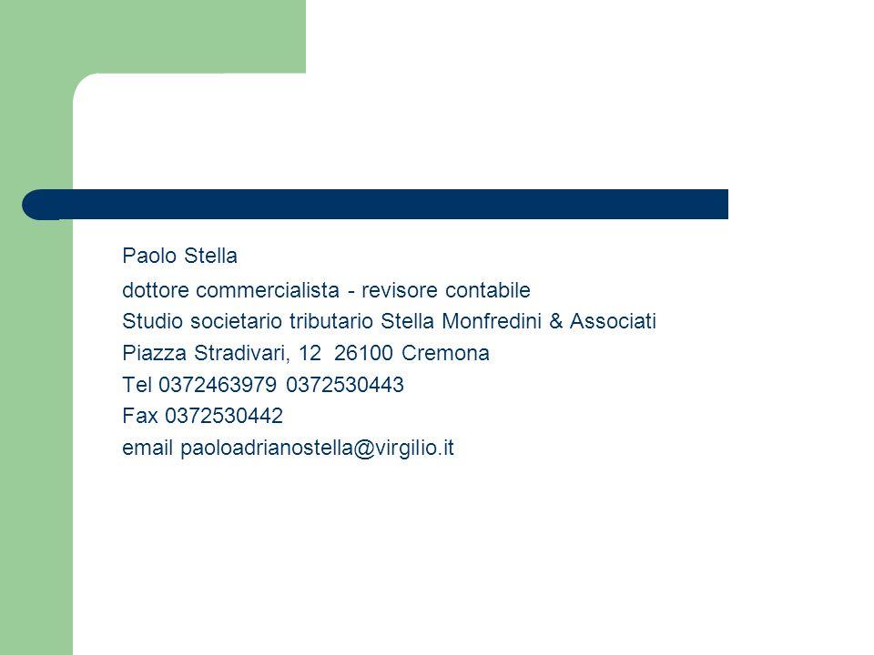 Paolo Stella dottore commercialista - revisore contabile