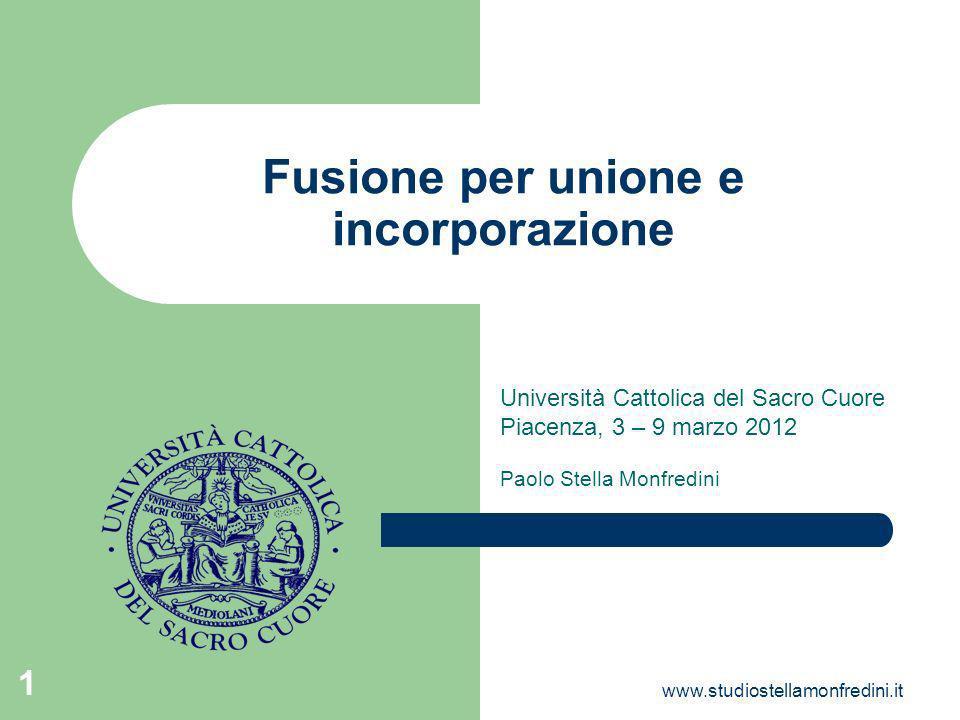 Fusione per unione e incorporazione