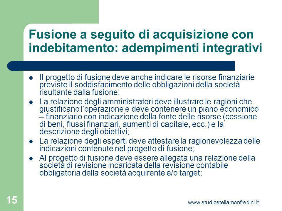 Fusione a seguito di acquisizione con indebitamento: adempimenti integrativi