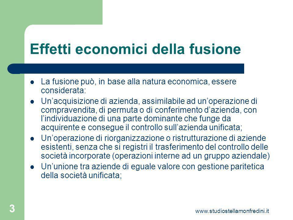 Effetti economici della fusione