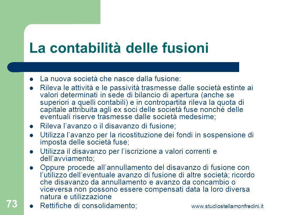 La contabilità delle fusioni