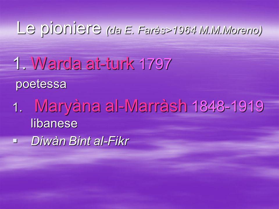 Le pioniere (da E. Farès>1964 M.M.Moreno)