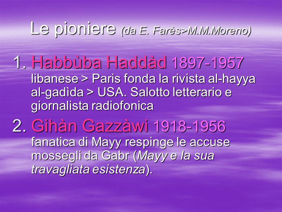 Le pioniere (da E. Farès>M.M.Moreno)