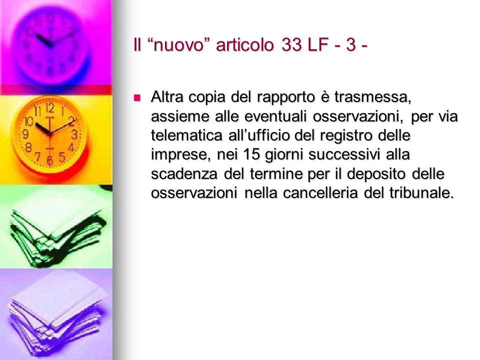 Il nuovo articolo 33 LF - 3 -