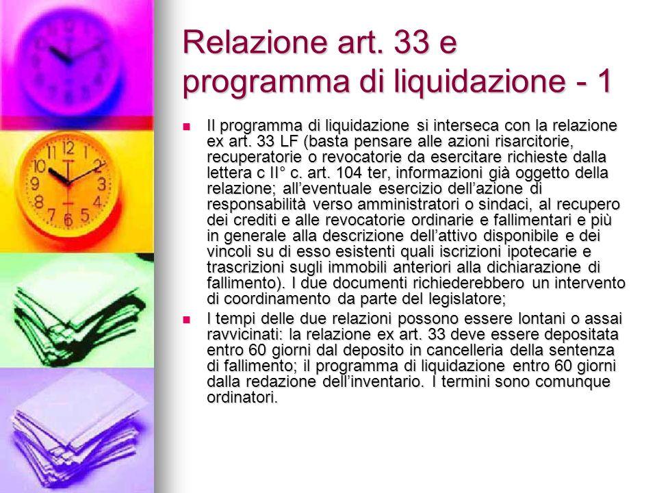 Relazione art. 33 e programma di liquidazione - 1