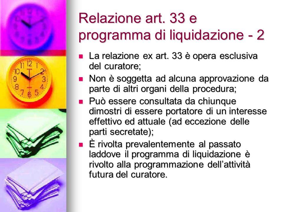 Relazione art. 33 e programma di liquidazione - 2