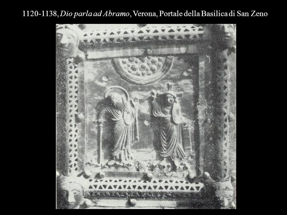 1120-1138, Dio parla ad Abramo, Verona, Portale della Basilica di San Zeno