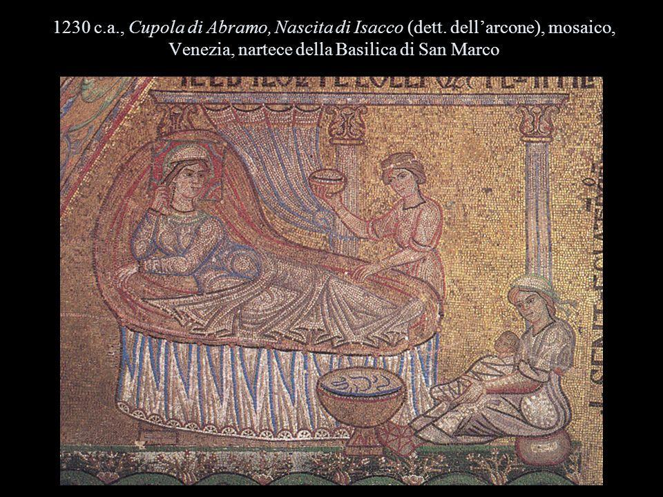 1230 c. a. , Cupola di Abramo, Nascita di Isacco (dett
