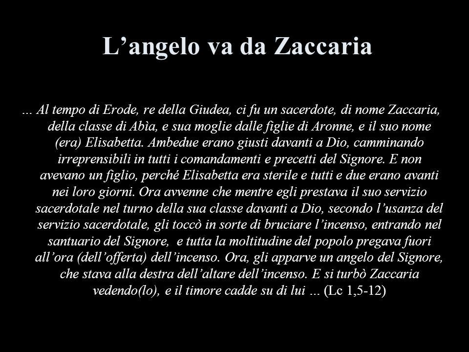 L'angelo va da Zaccaria