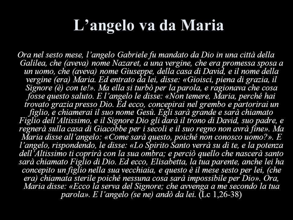 L'angelo va da Maria