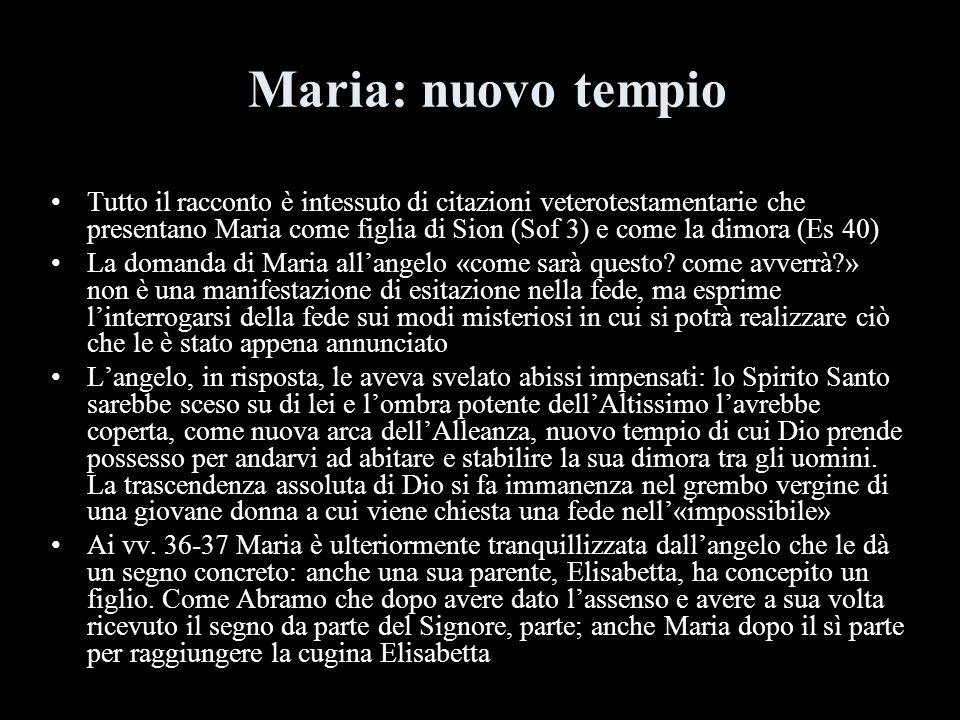 Maria: nuovo tempio