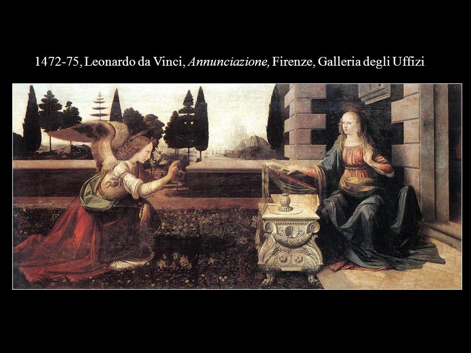1472-75, Leonardo da Vinci, Annunciazione, Firenze, Galleria degli Uffizi