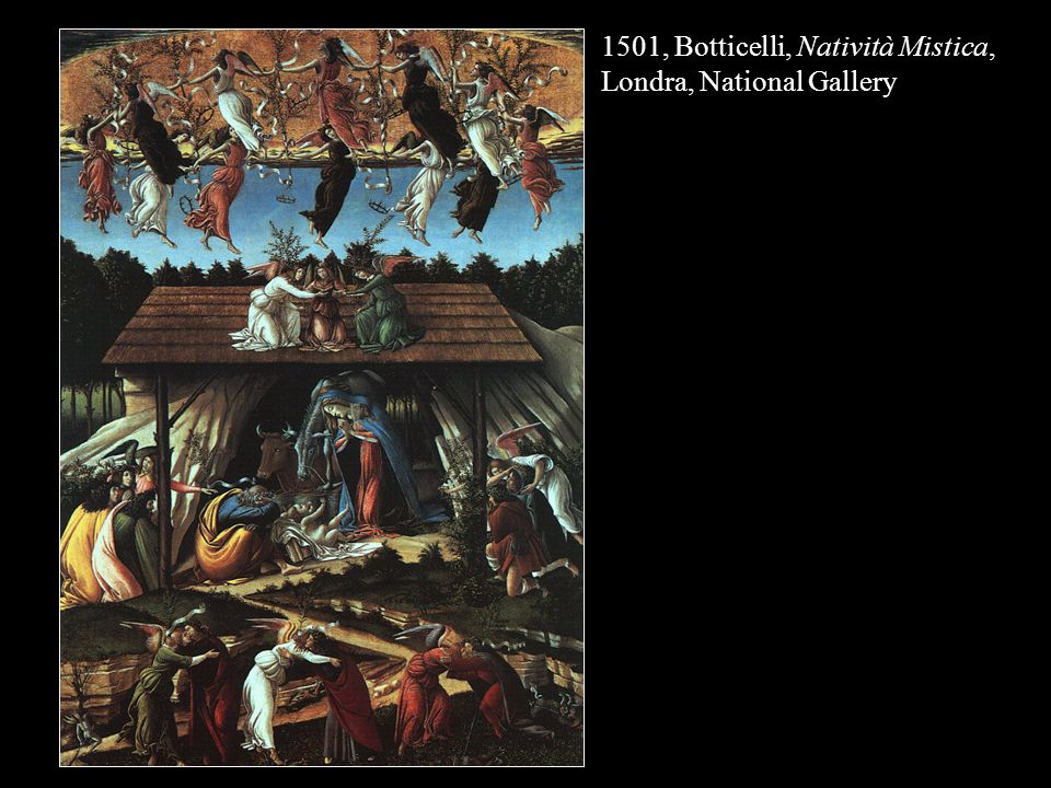 1501, Botticelli, Natività Mistica, Londra, National Gallery