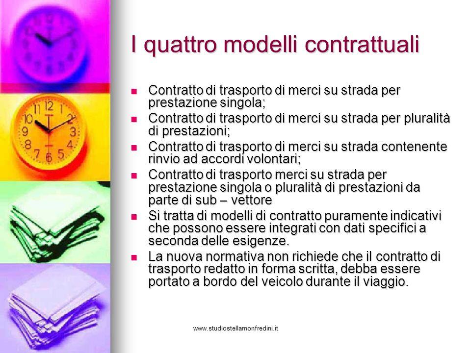 I quattro modelli contrattuali