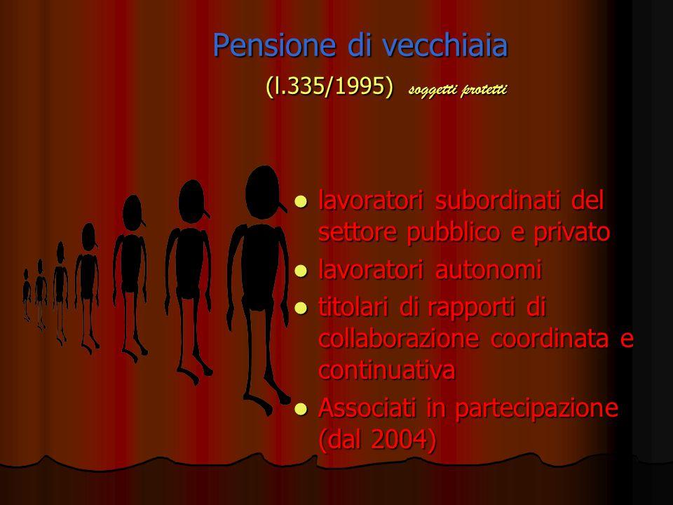 Pensione di vecchiaia (l.335/1995) soggetti protetti