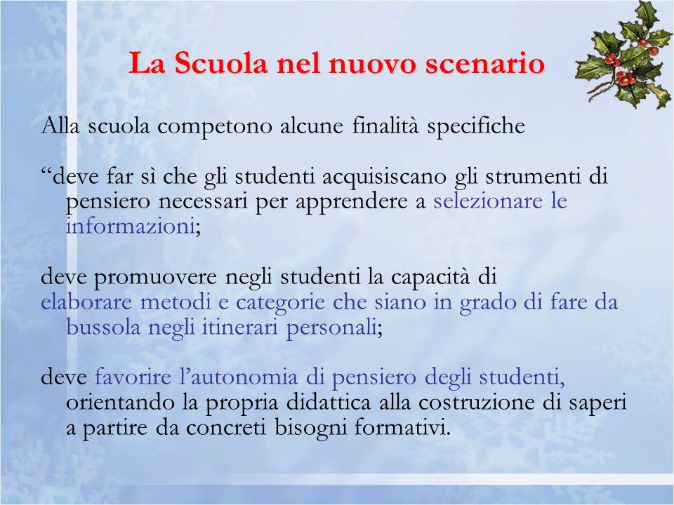 La Scuola nel nuovo scenario
