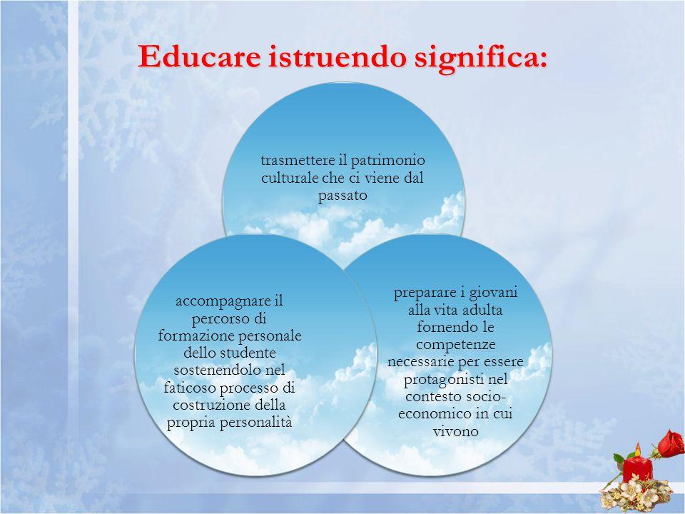Educare istruendo significa: