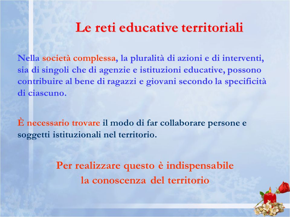 Le reti educative territoriali