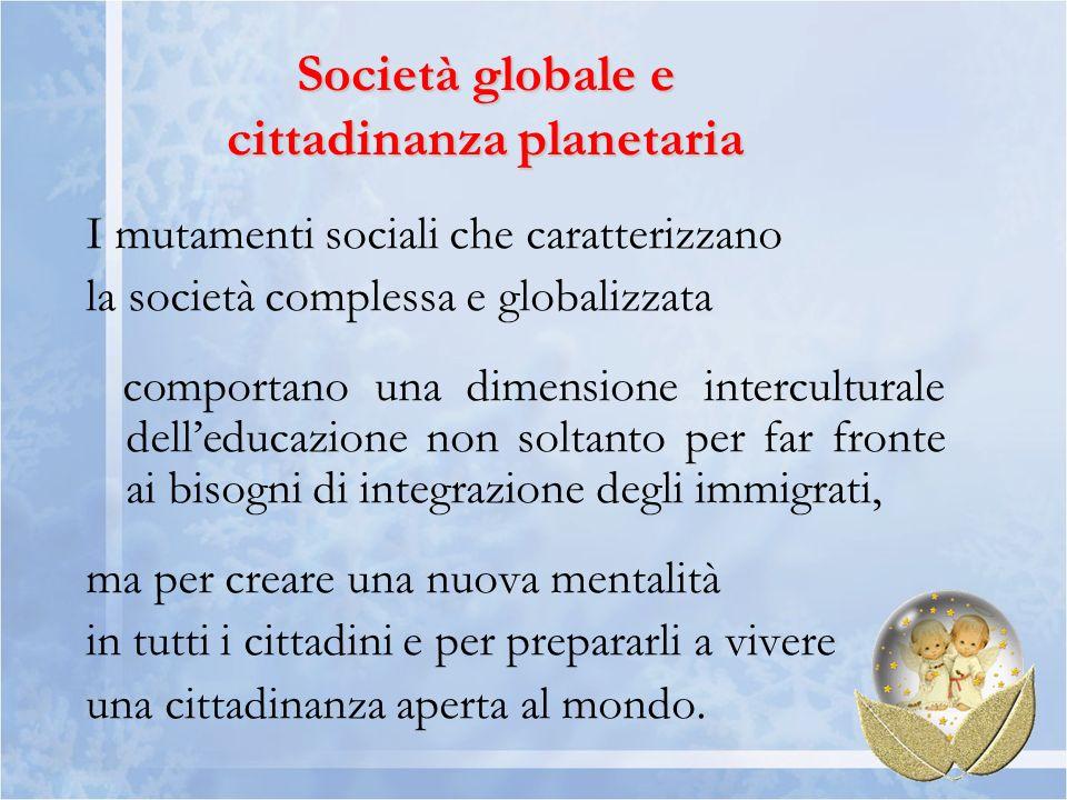 Società globale e cittadinanza planetaria