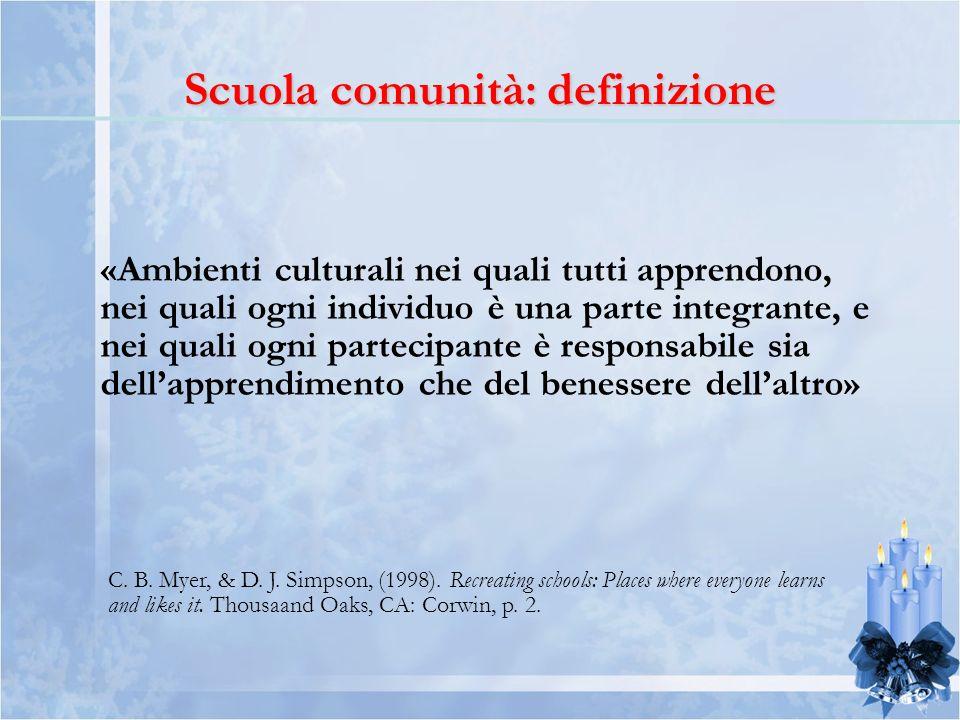 Scuola comunità: definizione
