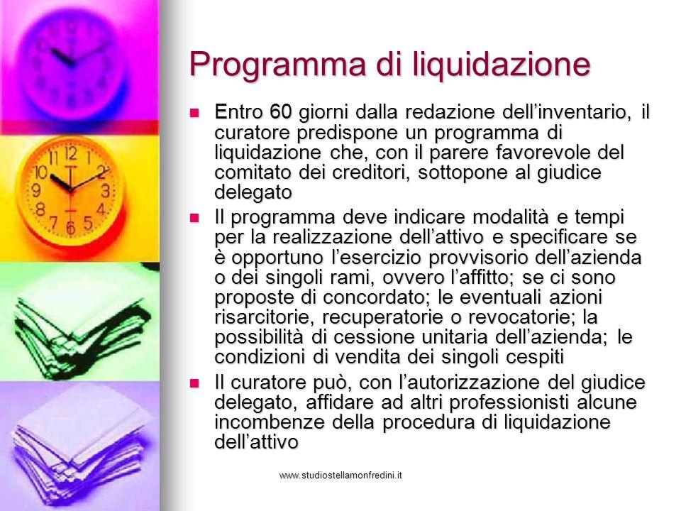 Programma di liquidazione