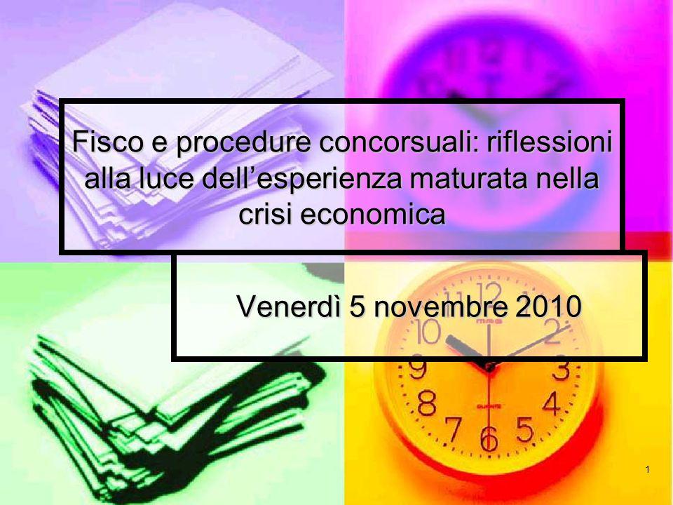 Fisco e procedure concorsuali: riflessioni alla luce dell'esperienza maturata nella crisi economica