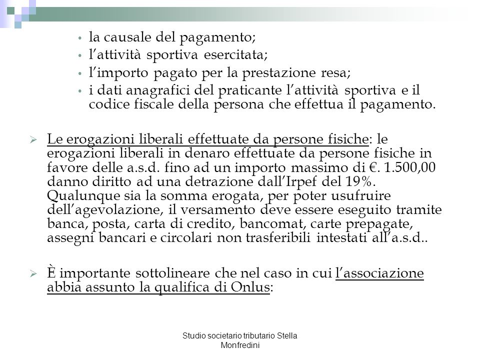 Studio societario tributario Stella Monfredini