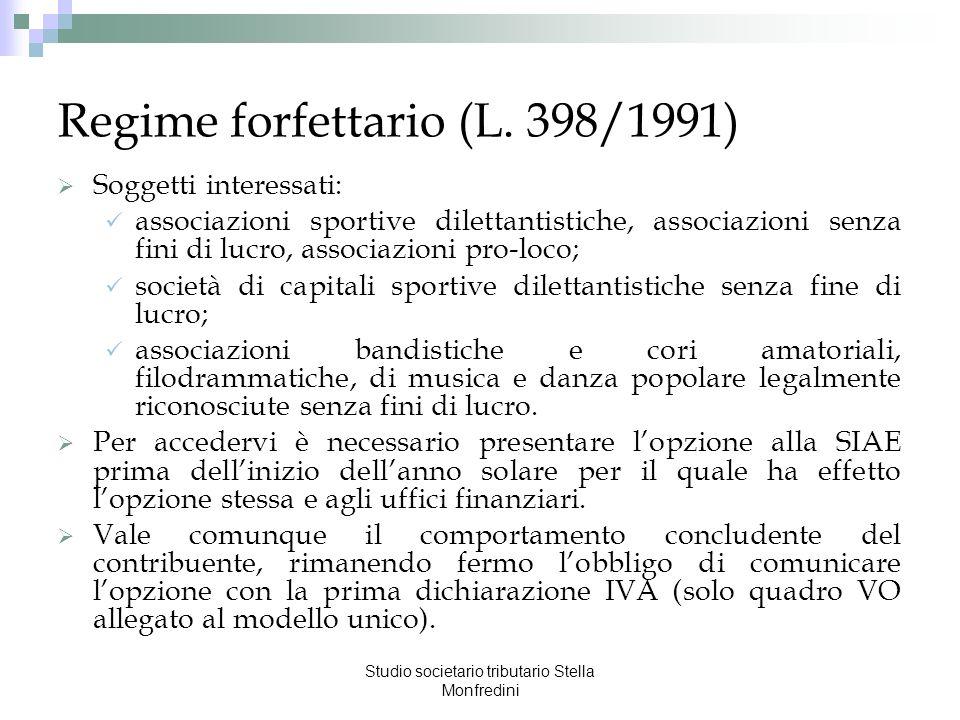 Regime forfettario (L. 398/1991)