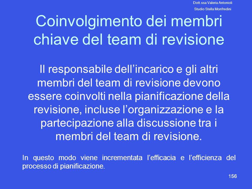 Coinvolgimento dei membri chiave del team di revisione