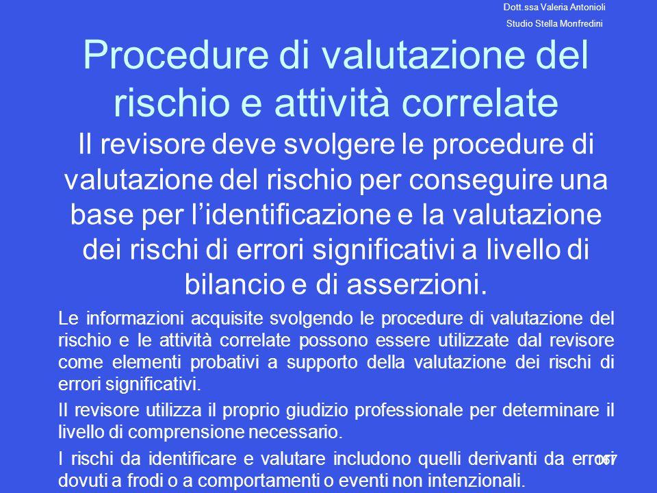 Procedure di valutazione del rischio e attività correlate