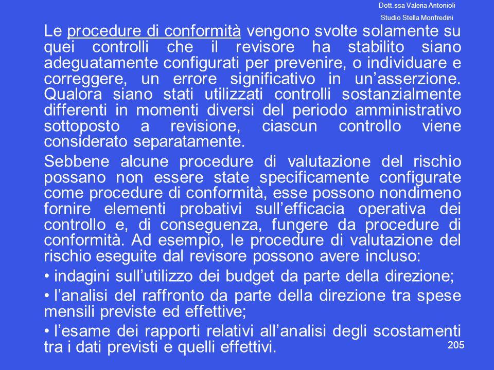 indagini sull'utilizzo dei budget da parte della direzione;