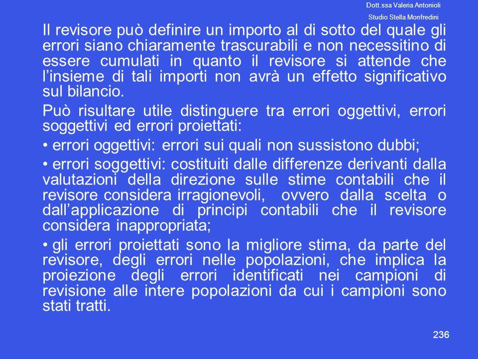 errori oggettivi: errori sui quali non sussistono dubbi;