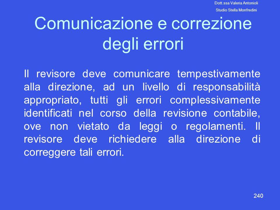 Comunicazione e correzione degli errori