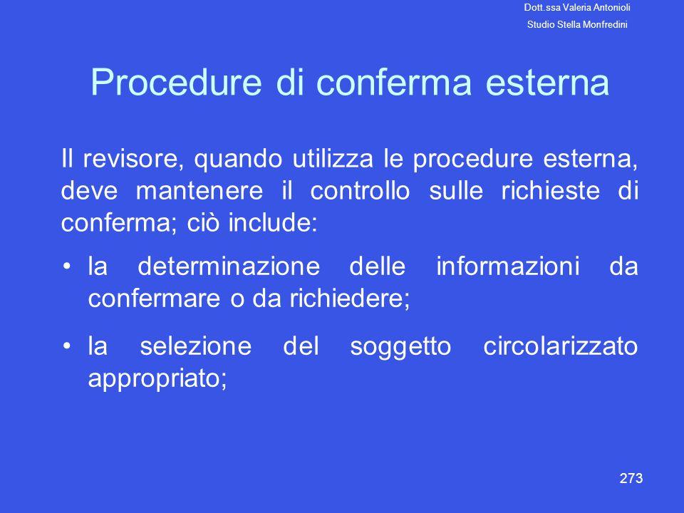 Procedure di conferma esterna