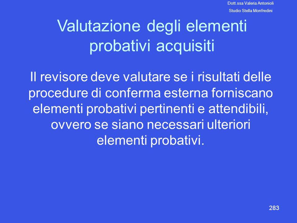 Valutazione degli elementi probativi acquisiti