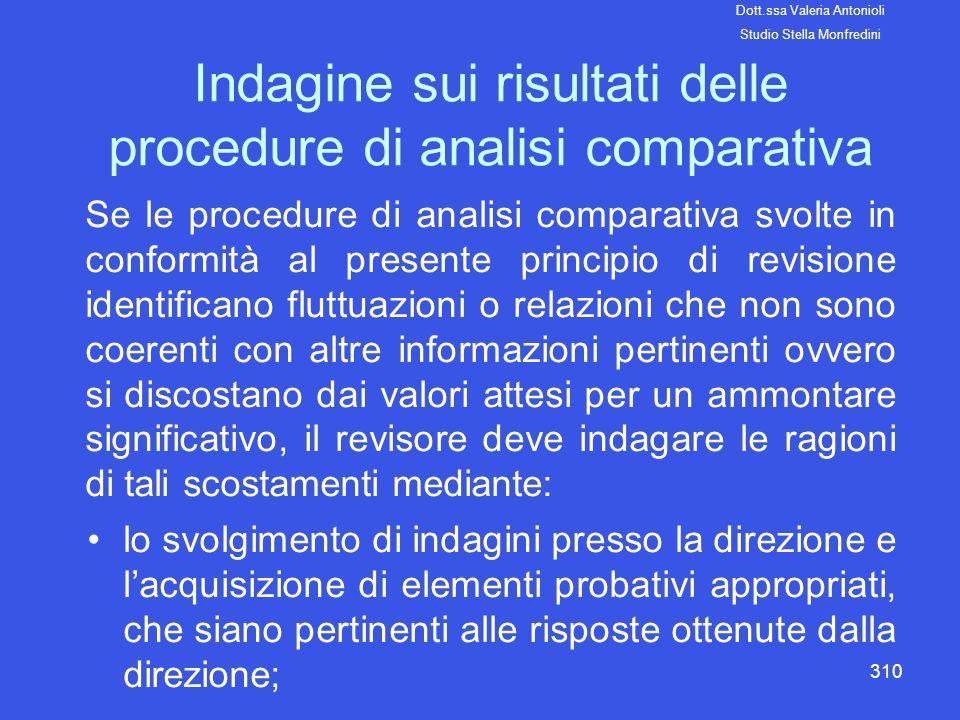 Indagine sui risultati delle procedure di analisi comparativa